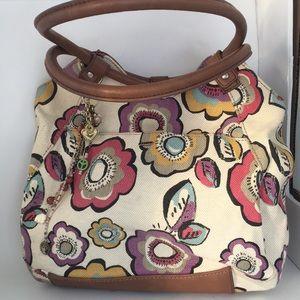 Relic large bohemian flowered cloth bag (B)